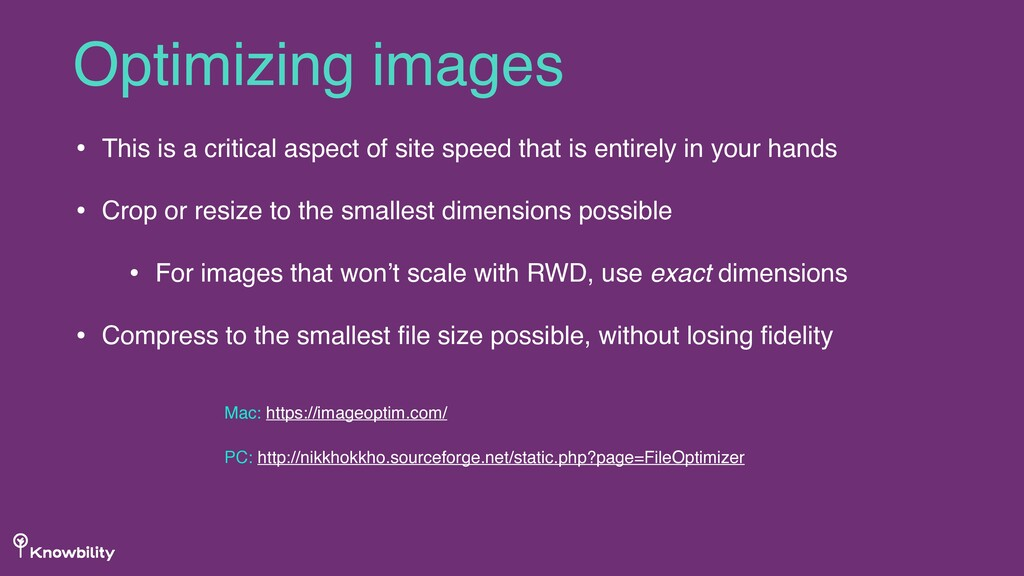 • This is a critical aspect of site speed that ...