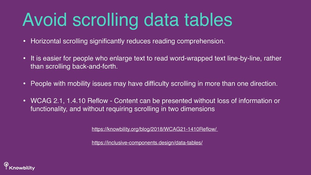 • Horizontal scrolling significantly reduces rea...