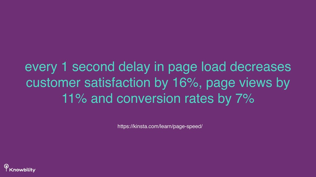 every 1 second delay in page load decreases cus...