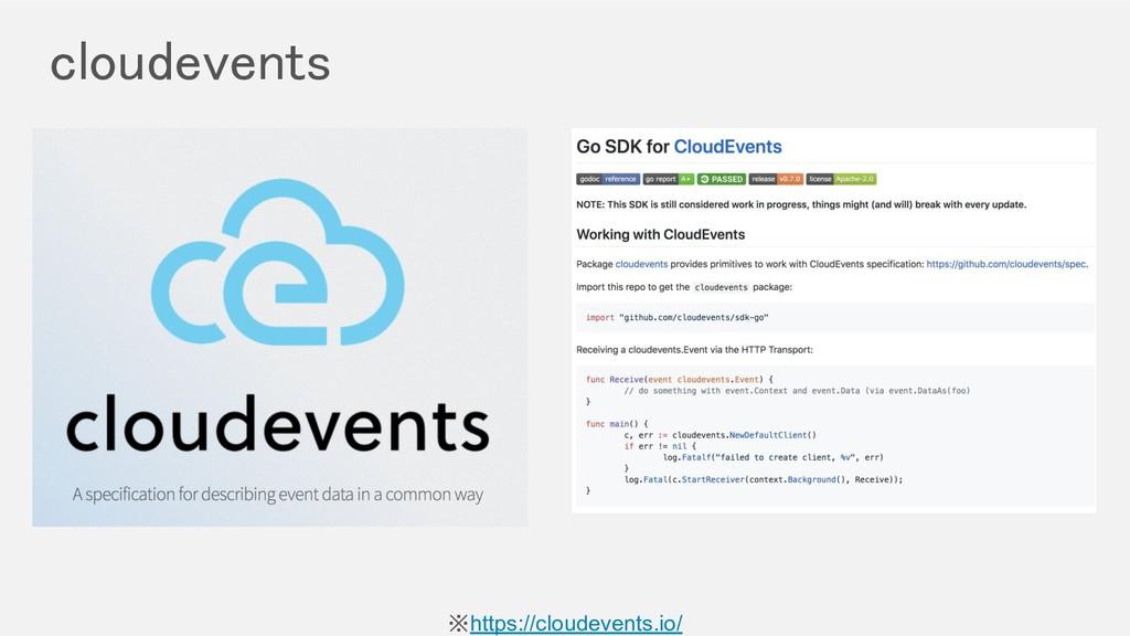 cloudevents ※https://cloudevents.io/