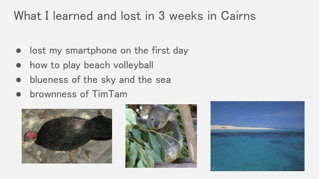 What I learned and lost in 3 weeks in Cairns ●...