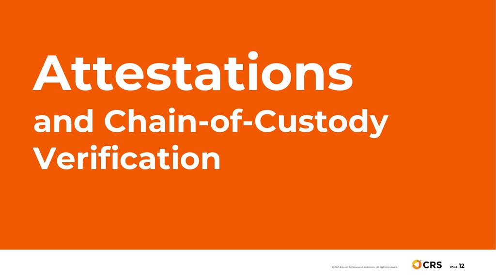 Attestations and Chain-of-Custody Verification ...