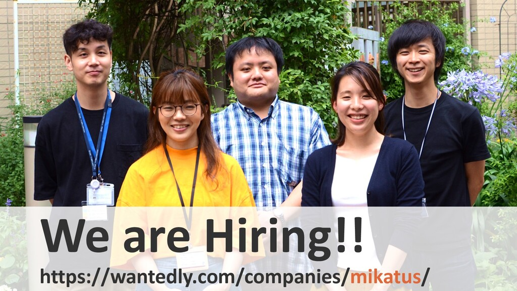 We are Hiring!! https://wantedly.com/companies/...
