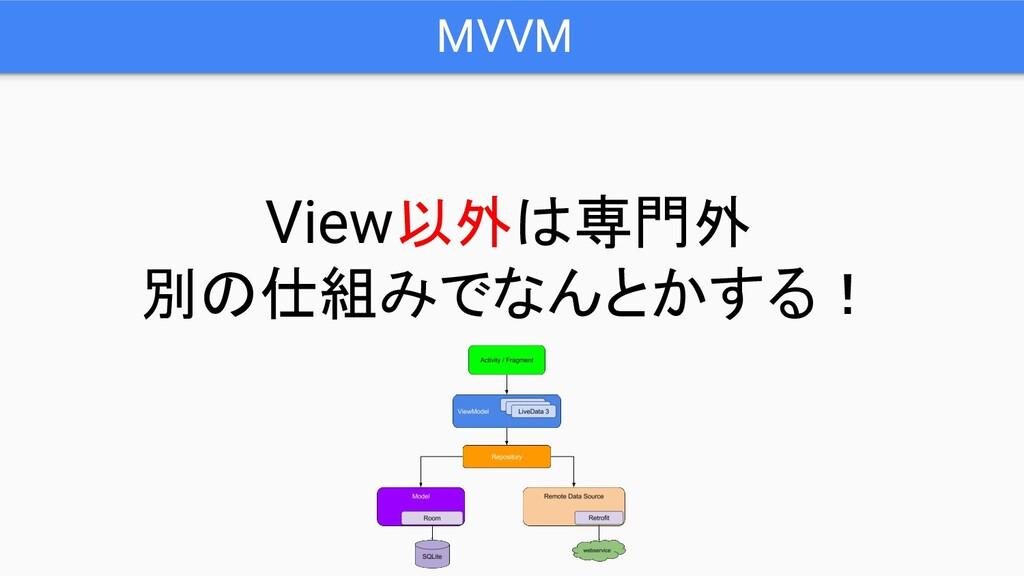 MVVM View以外は専門外 別の仕組みでなんとかする!