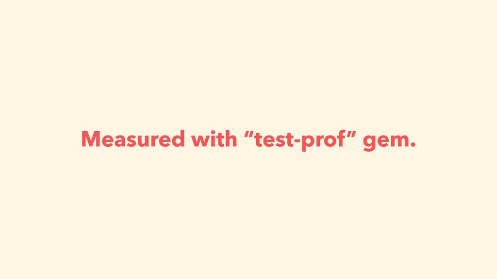 "Measured with ""test-prof"" gem."
