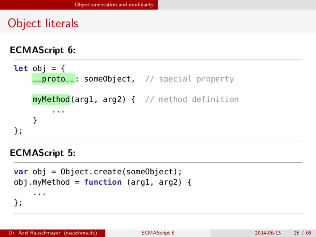 Object-orientation and modularity Object litera...
