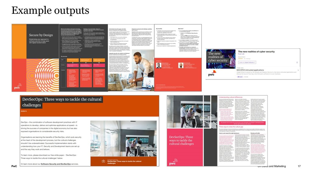 PwC UK Sales and Marketing Example outputs 17