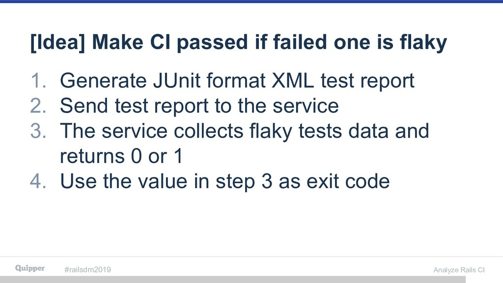 #railsdm2019 Analyze Rails CI [Idea] Make CI pa...