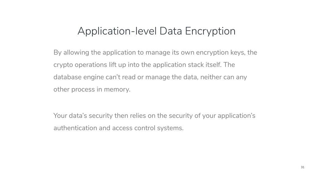 31 Application-level Data Encryption By allowin...