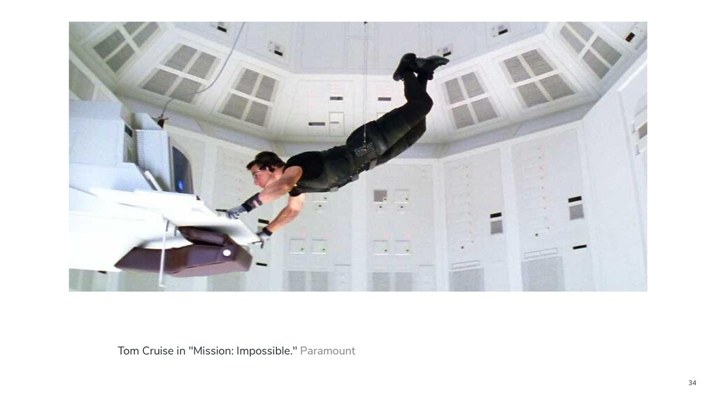 "34 Tom Cruise in ""Mission: Impossible."" Paramou..."