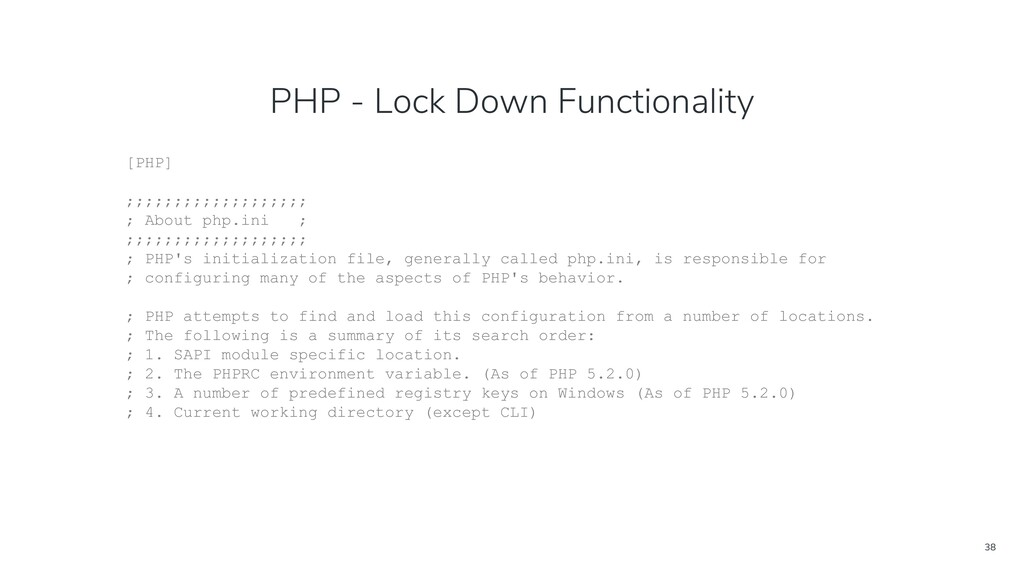 38 PHP - Lock Down Functionality [PHP] ;;;;;;;;...