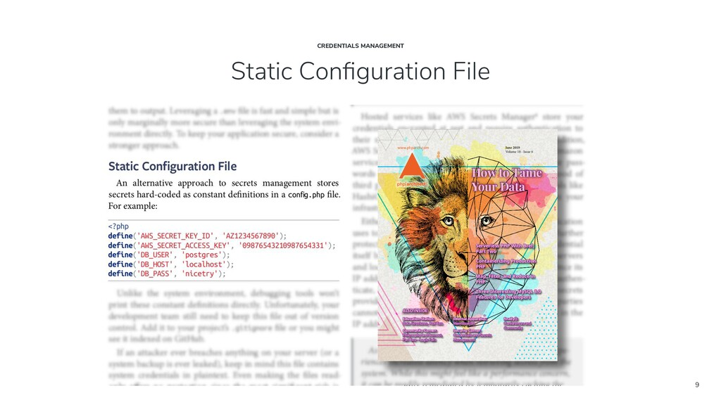 9 Static Configuration File CREDENTIALS MANAGEME...