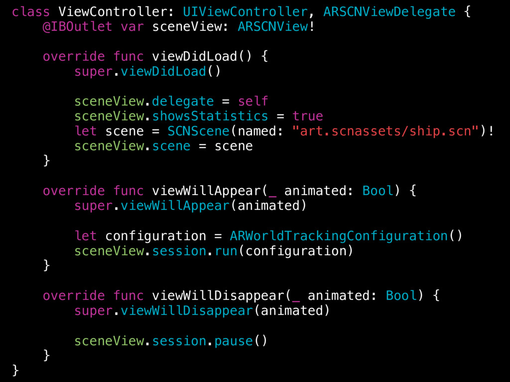 class ViewController: UIViewController, ARSCNVi...