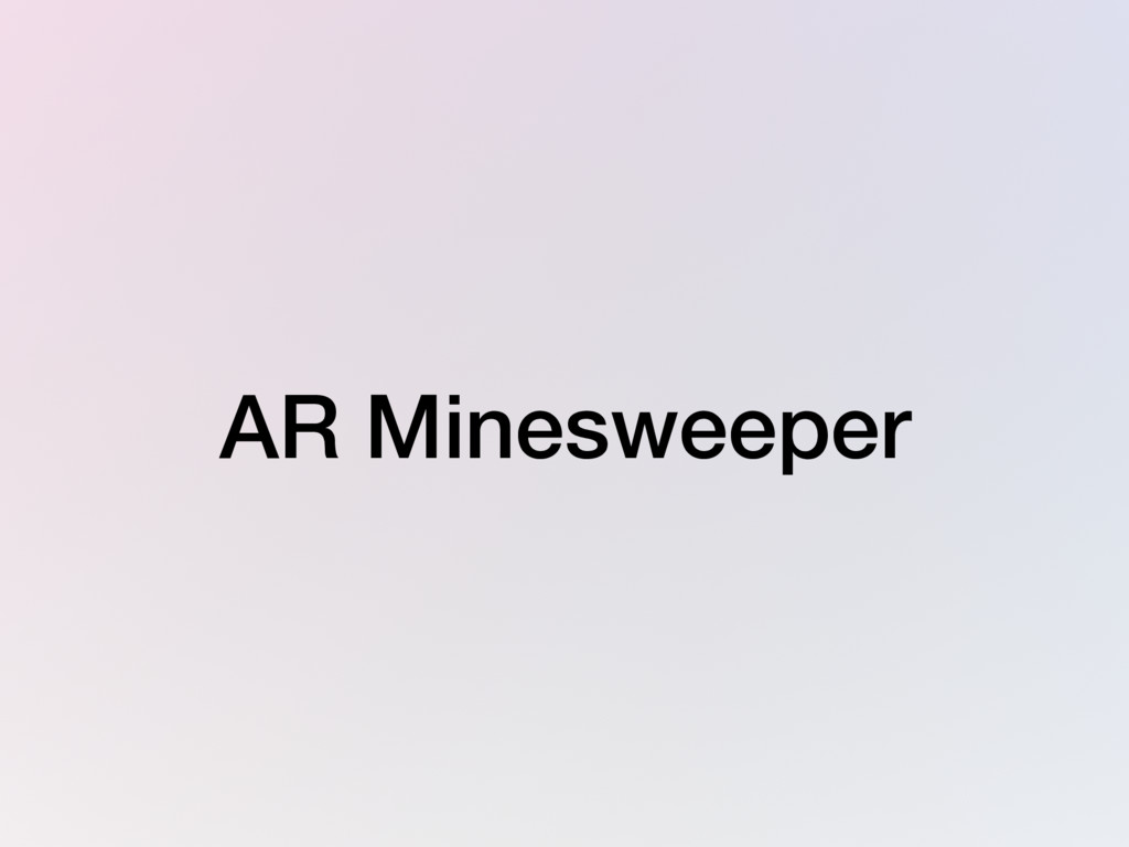 AR Minesweeper