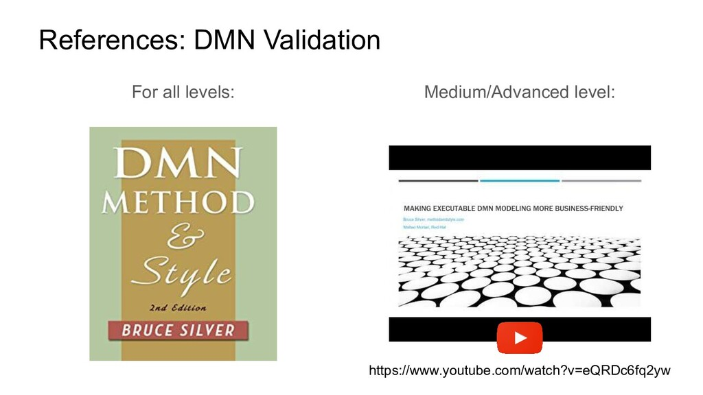 References: DMN Validation For all levels: Medi...