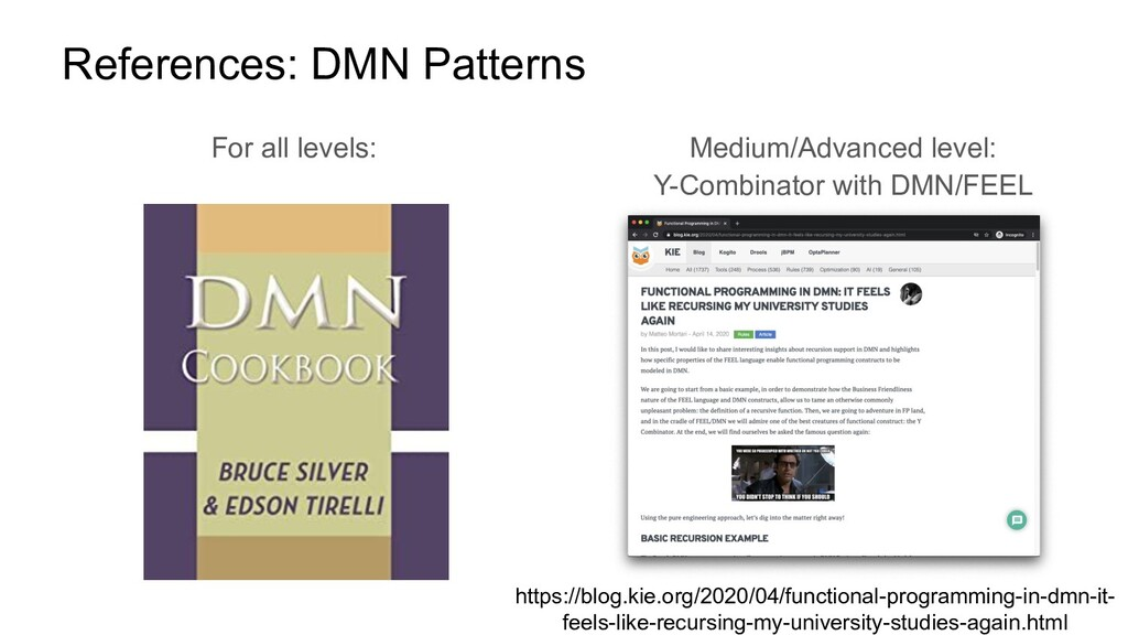 References: DMN Patterns For all levels: Medium...
