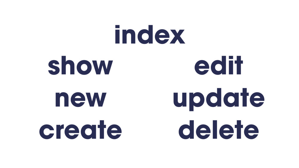 show new create edit update delete index