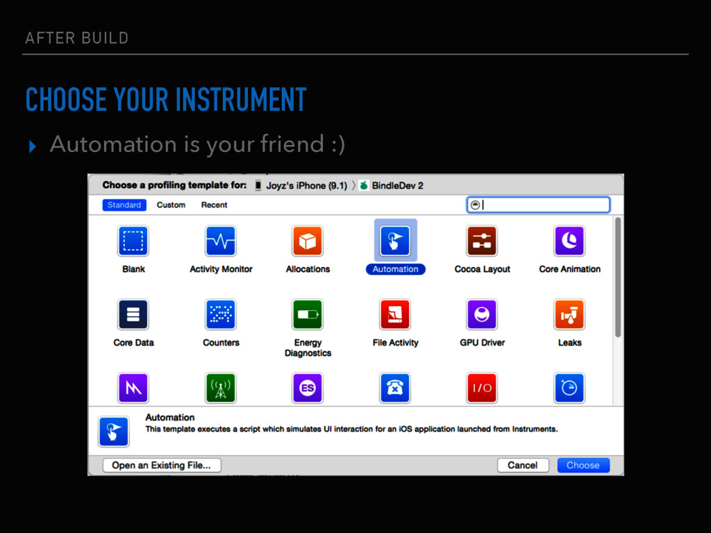 AFTER BUILD CHOOSE YOUR INSTRUMENT ▸ Automation...