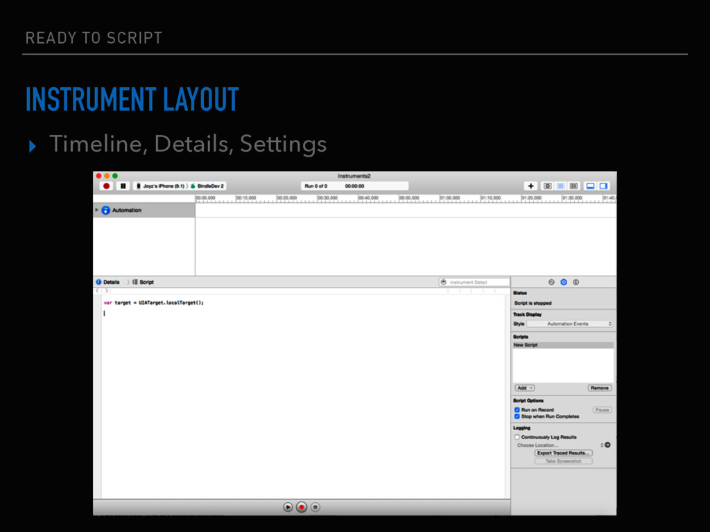 ▸ Timeline, Details, Settings READY TO SCRIPT I...