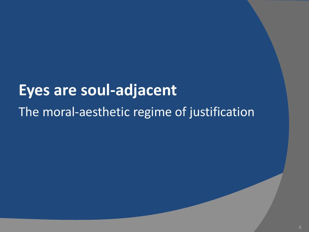 Eyes are soul-adjacent The moral-aesthetic regi...