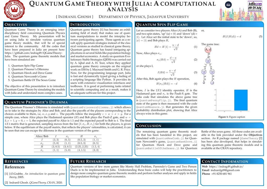 QUANTUM GAME THEORY WITH JULIA: A COMPUTATIONAL...