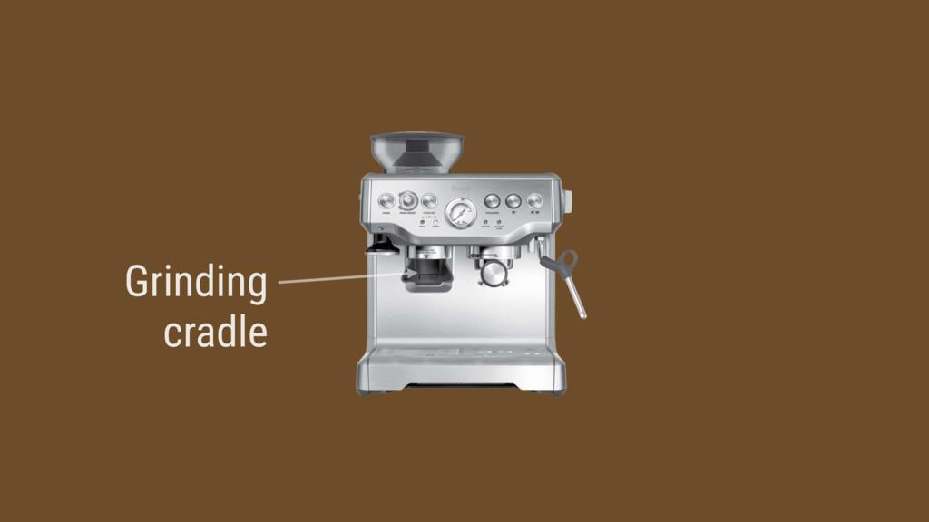 Grinding cradle