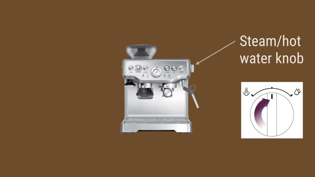 Steam/hot water knob