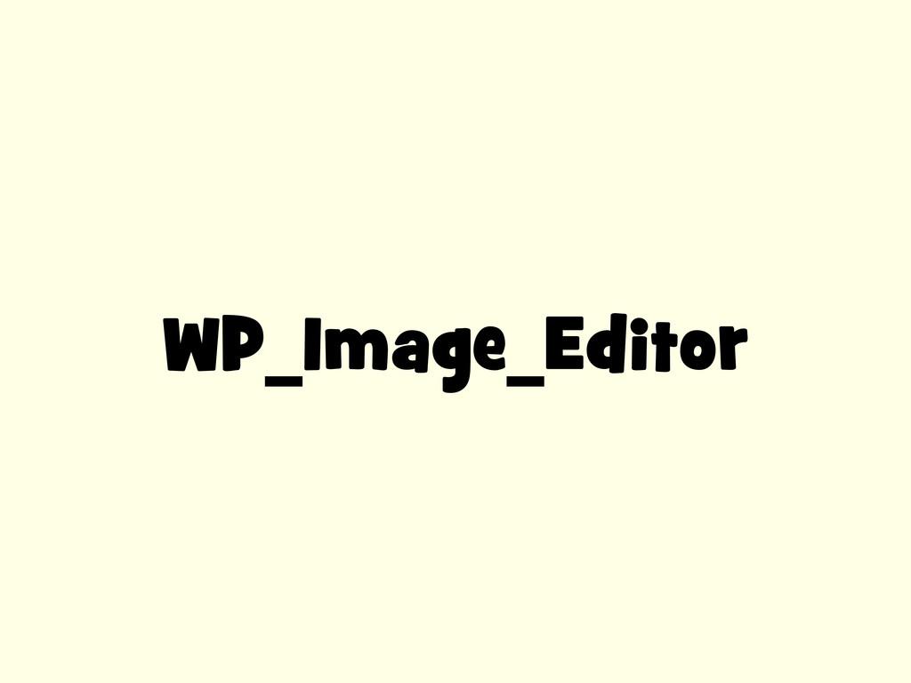 WP_Image_Editor