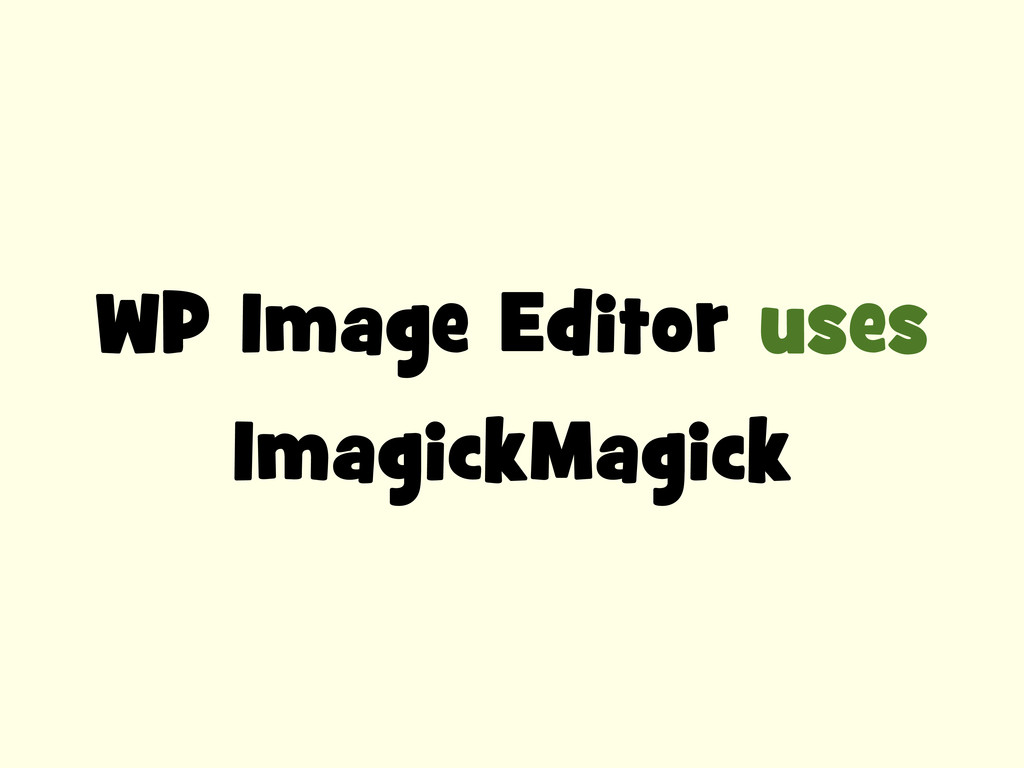 WP Image Editor uses ImagickMagick