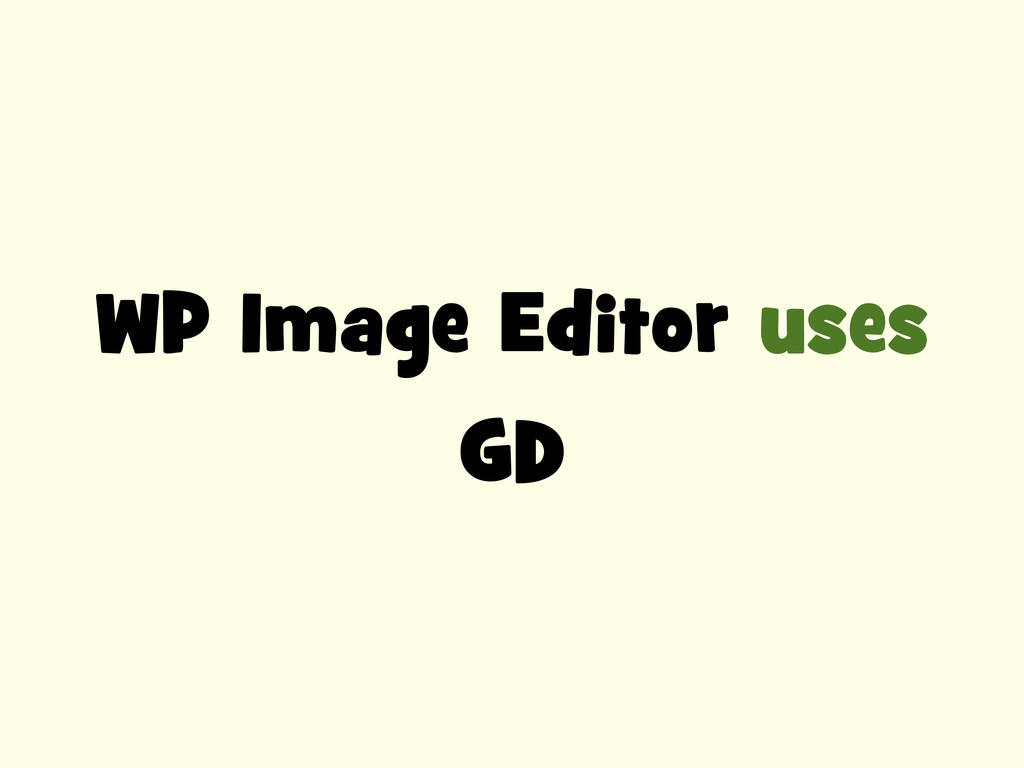 WP Image Editor uses GD