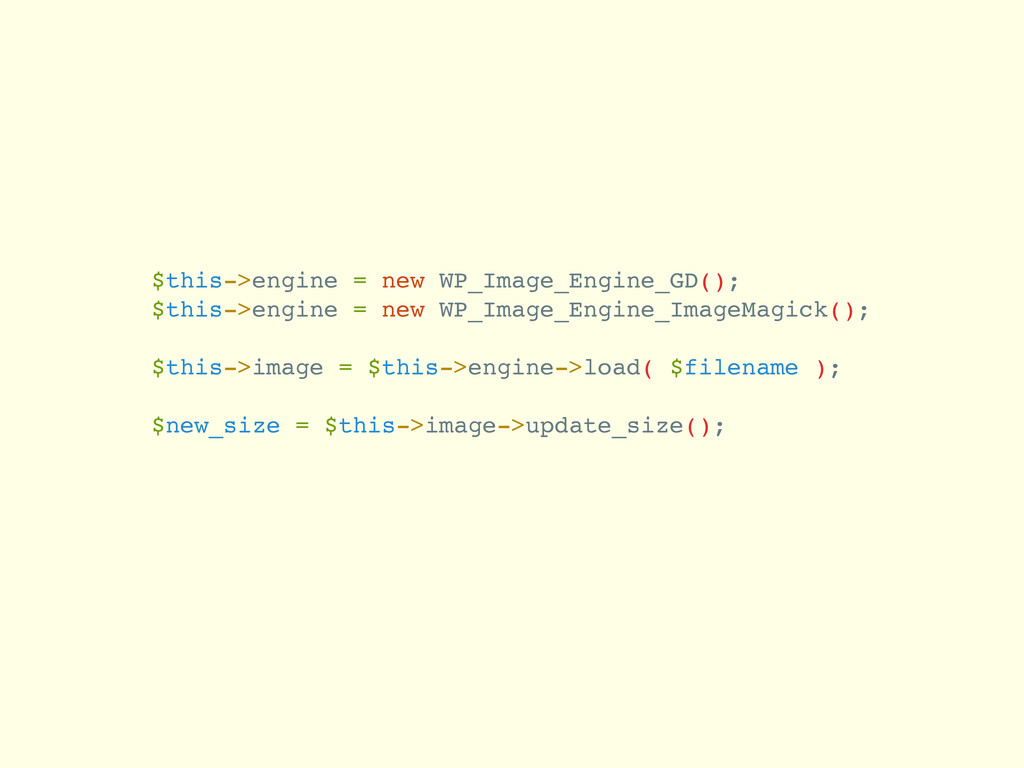 $this->engine = new WP_Image_Engine_GD(); $this...