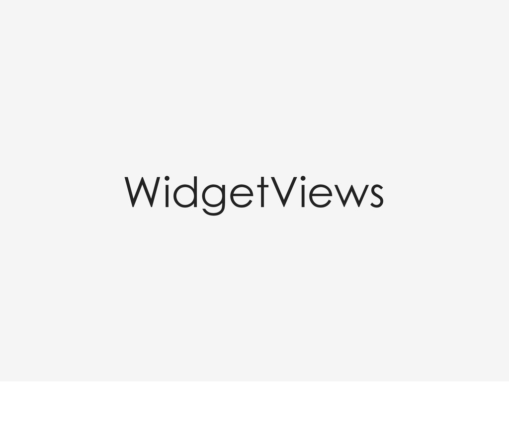 WidgetViews