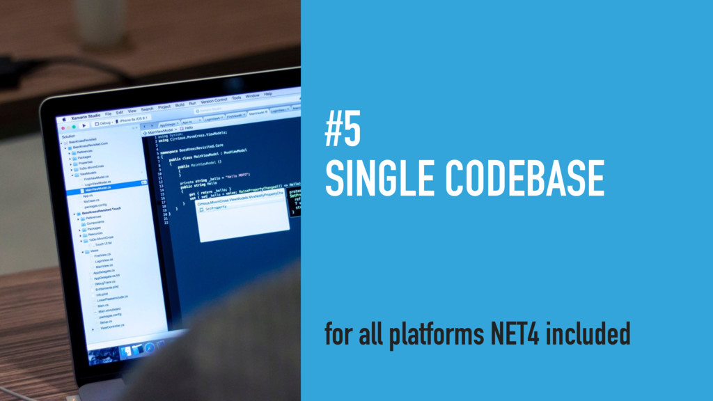 #5 SINGLE CODEBASE for all platforms NET4 inclu...