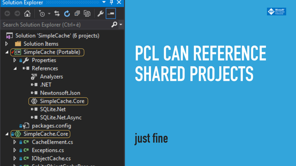 PCL CAN REFERENCE SHARED PROJECTS just fine