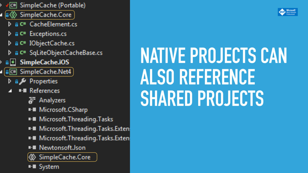 NATIVE PROJECTS CAN ALSO REFERENCE SHARED PROJE...