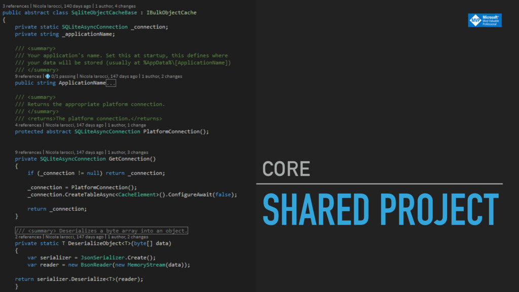 SHARED PROJECT CORE