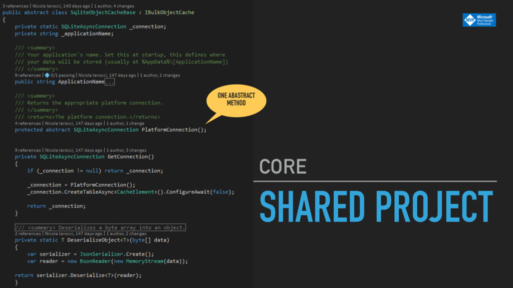 SHARED PROJECT CORE ONE ABASTRACT METHOD