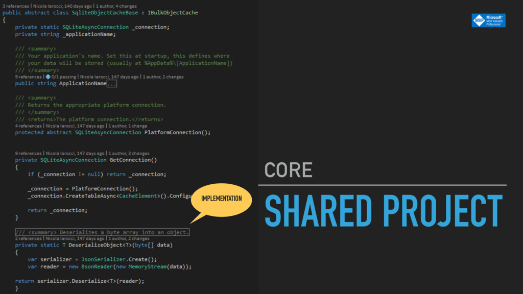 SHARED PROJECT CORE IMPLEMENTATION