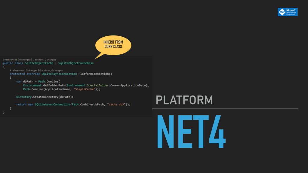 NET4 PLATFORM INHERIT FROM CORE CLASS