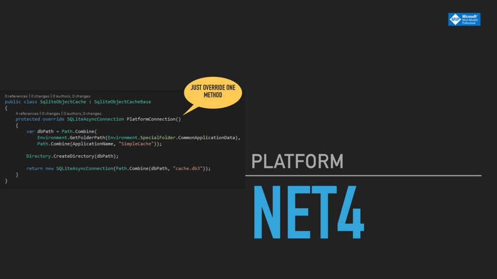 NET4 PLATFORM JUST OVERRIDE ONE METHOD