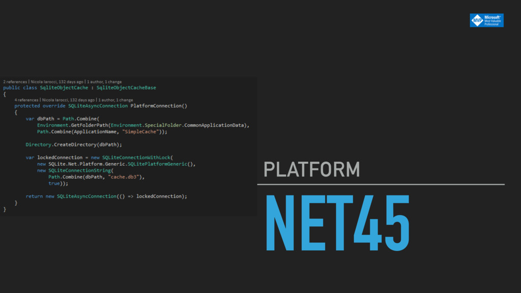 NET45 PLATFORM