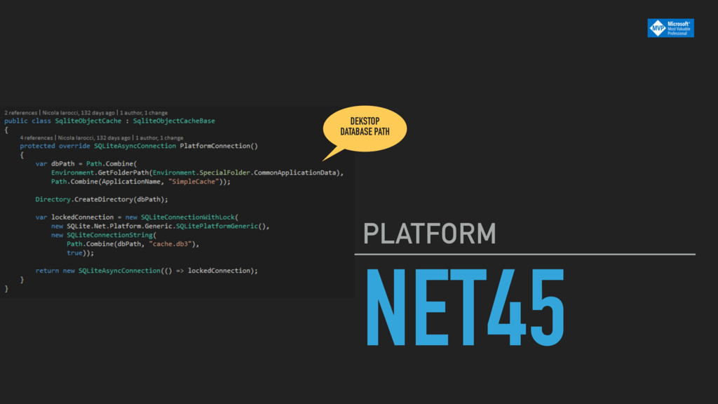 NET45 PLATFORM DEKSTOP DATABASE PATH