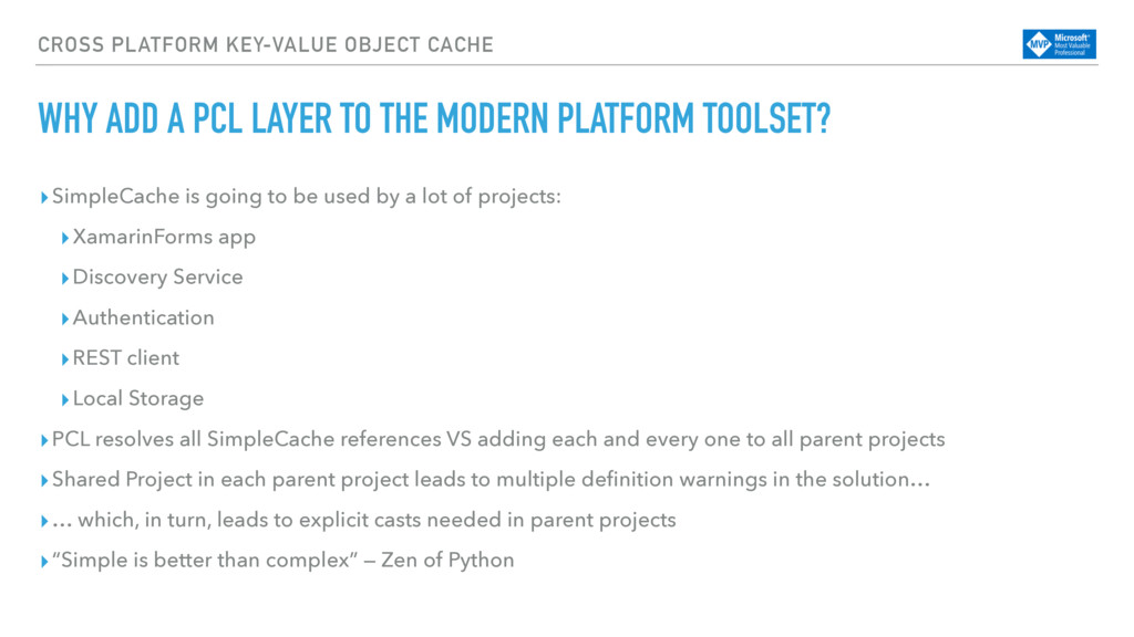 CROSS PLATFORM KEY-VALUE OBJECT CACHE WHY ADD A...