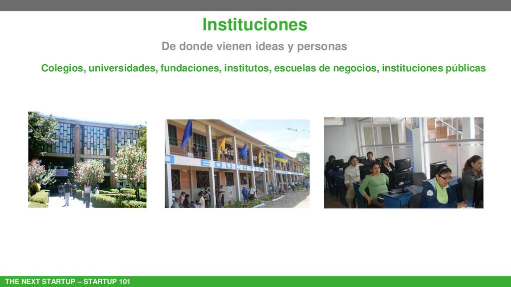 THE NEXT STARTUP – STARTUP 101 Instituciones De...