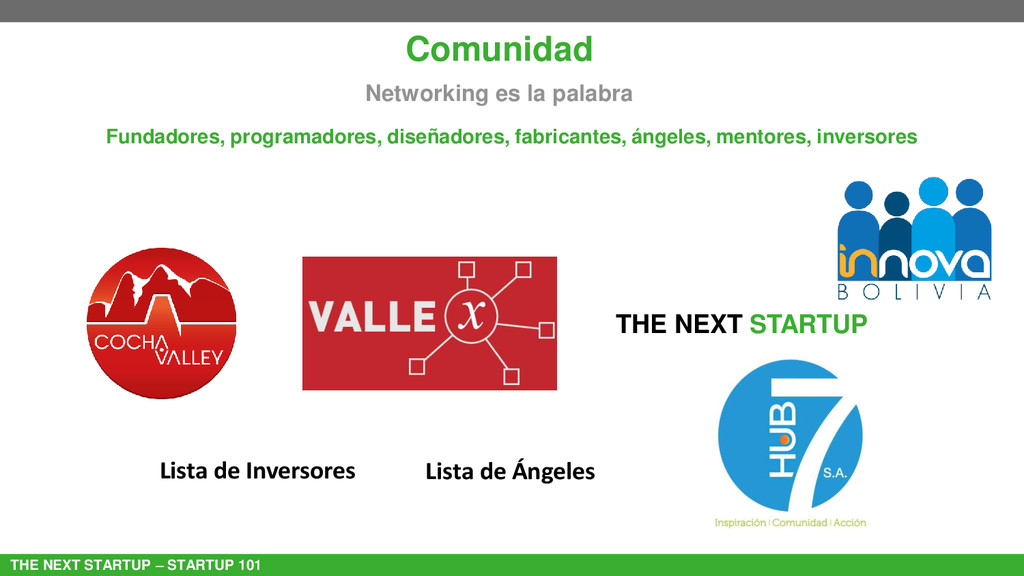 THE NEXT STARTUP – STARTUP 101 Comunidad Networ...