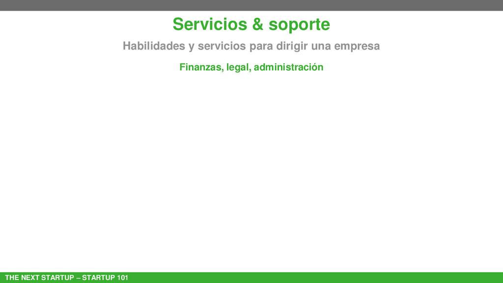 THE NEXT STARTUP – STARTUP 101 Servicios & sopo...