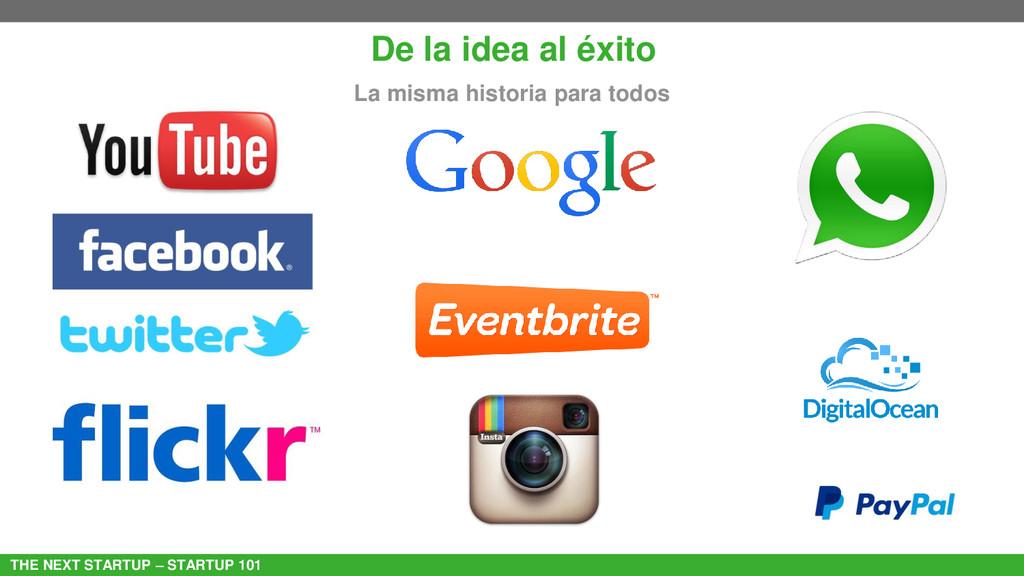 THE NEXT STARTUP – STARTUP 101 De la idea al éx...