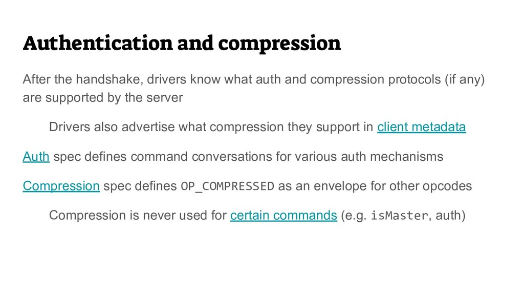 Authentication and compression After the handsh...