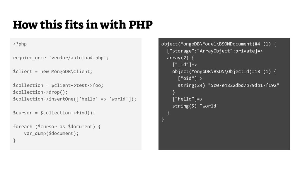 How this fits in with PHP <?php require_once 'v...