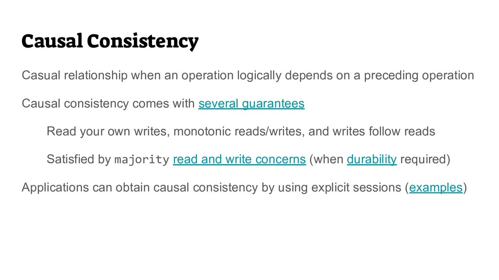 Causal Consistency Casual relationship when an ...